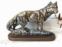 Статуетка Вовк біжить бронза, фото 1