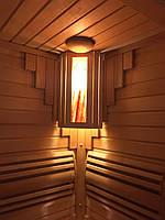 """Ограждение  светильника угловое """"Гималайская соль"""" для бани и сауны."""
