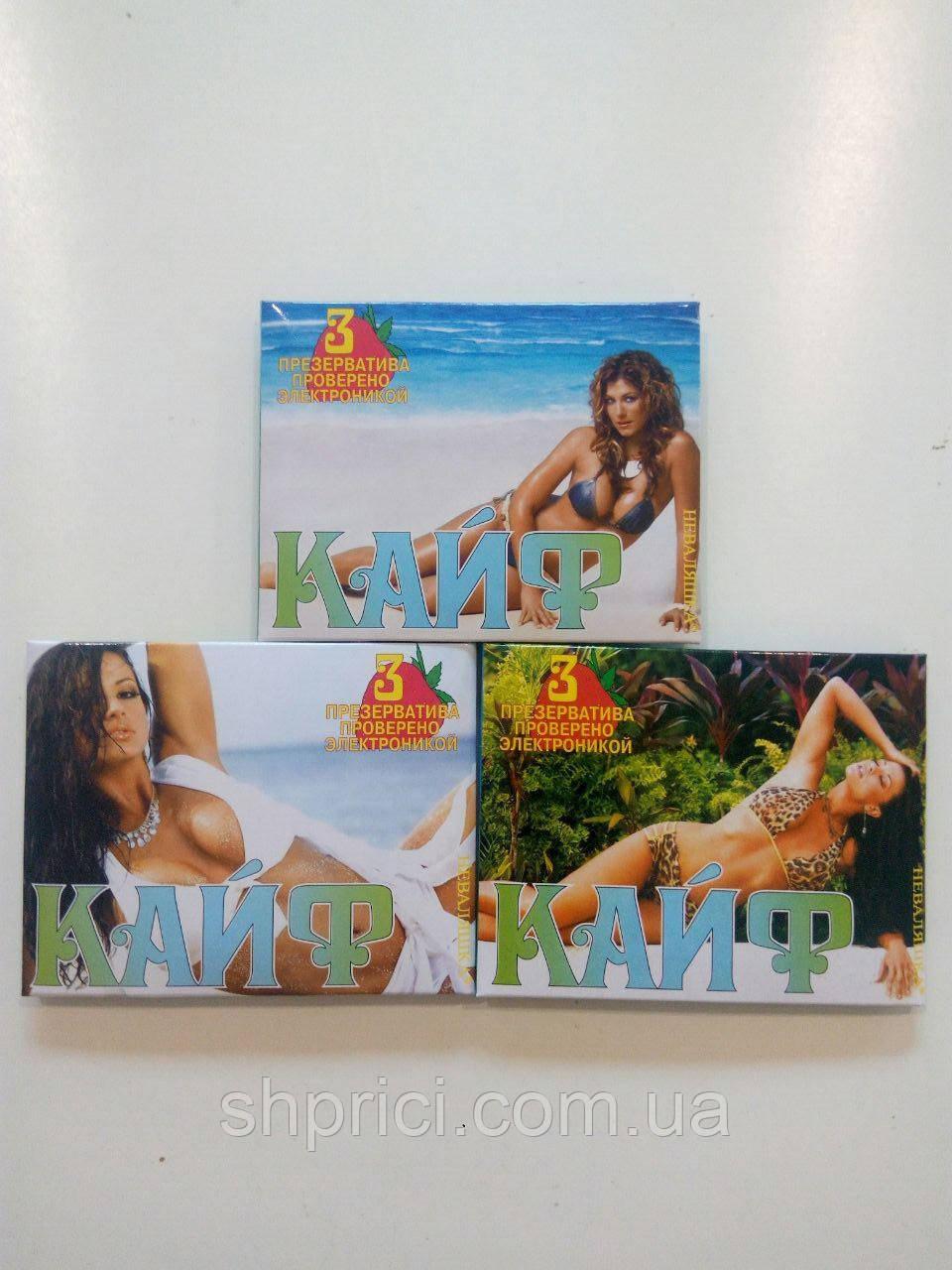 Презерватив Кайф, 3 шт. в упаковке