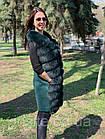 Жилетка 90 см Кашемир С Мехом Песца Изумруд 041КЛ, фото 10