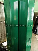 Столб для секционных ограждений цинк +ППЛ высота 1,5 м .
