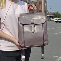 """Женский кожаный рюкзак-сумка (трансформер) """"Милла Lilac"""", фото 1"""