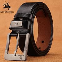 Кожаный мужской ремень Primo No.Onepaul ZDK333 - Black
