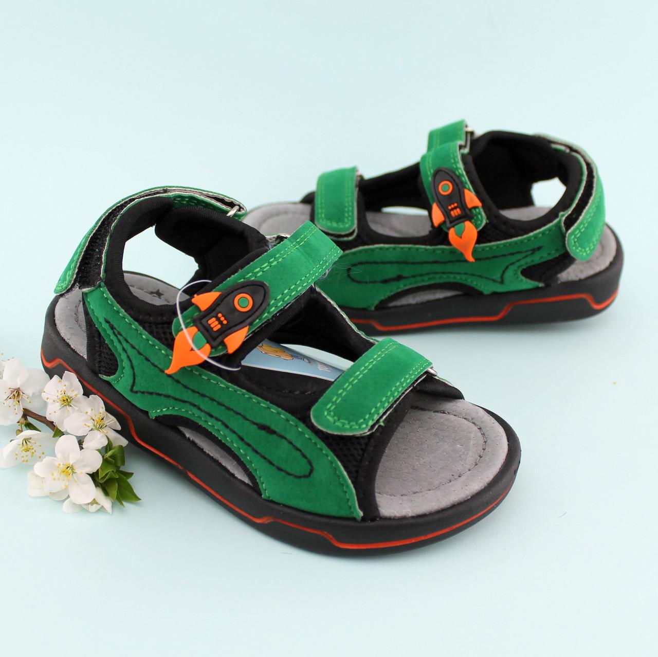 c2611a234 Босоножки мальчику две липучки спортивные Зеленый Том.м размер 20,21 -  BonKids -