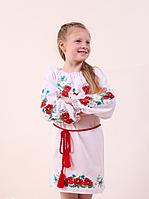 Вышито детское платье на длинный рукав. Размеры 122140, фото 1