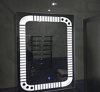 Дзеркало у ванну кімнату, прихожу, спальню, настінне вологостійке з LED, лід з підсвічуванням прямокутна, під замовлення