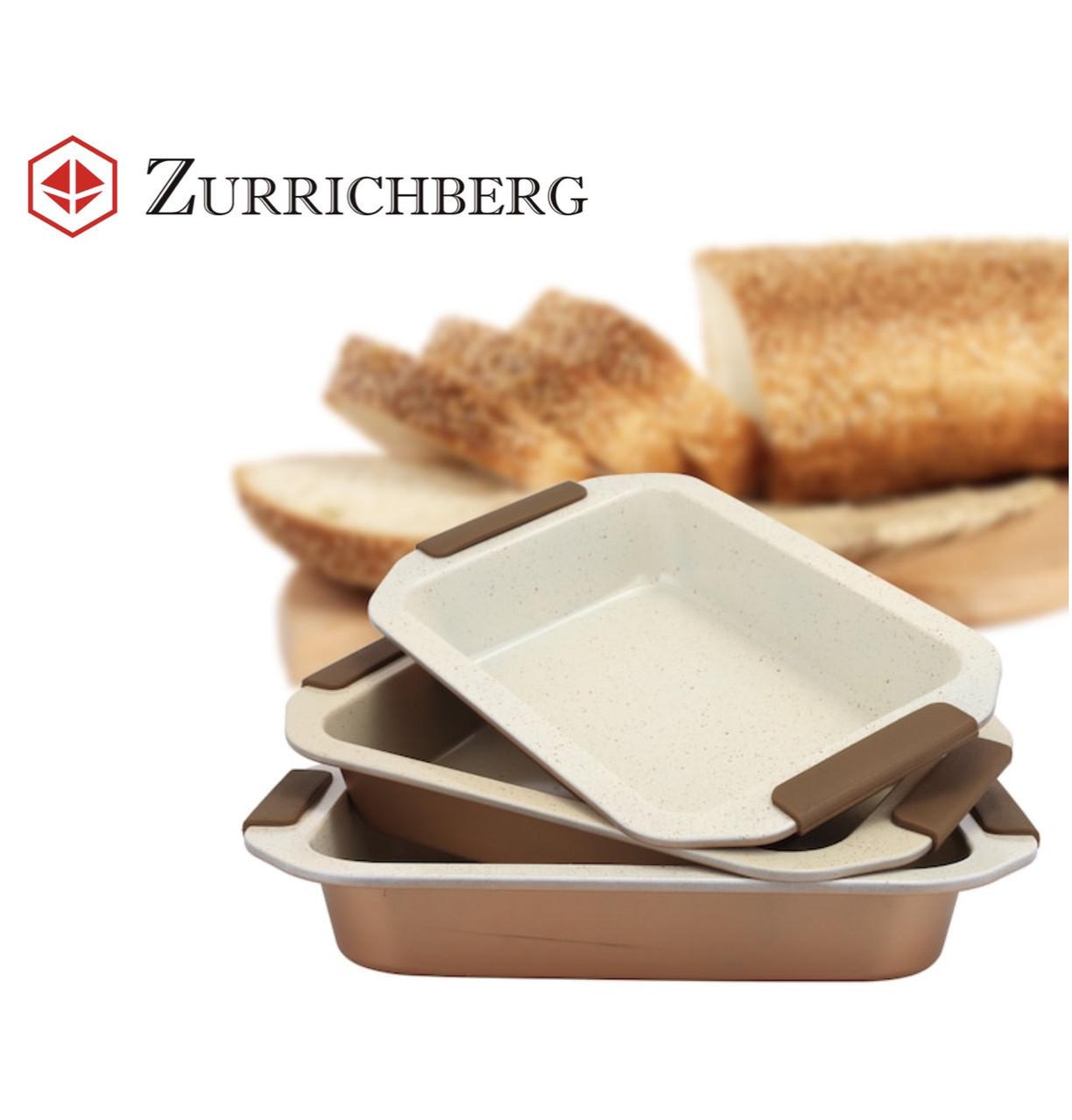 Набор форм для запекания Zurrichberg ZBP 7113 с силиконовыми ручками 3 шт