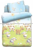 Овечки на лугу постель для новорожденного