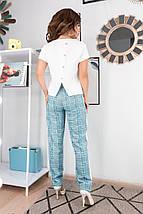 """Летний женский брючный костюм  """"Майорка"""" с блузой (2 цвета), фото 3"""
