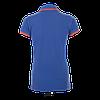 Женская рубашка-поло, ярко-синий/неон-коралловы, SOL'S PASADENA WOMEN, плотность 200 г/м2, размеры от S до XXL, фото 2