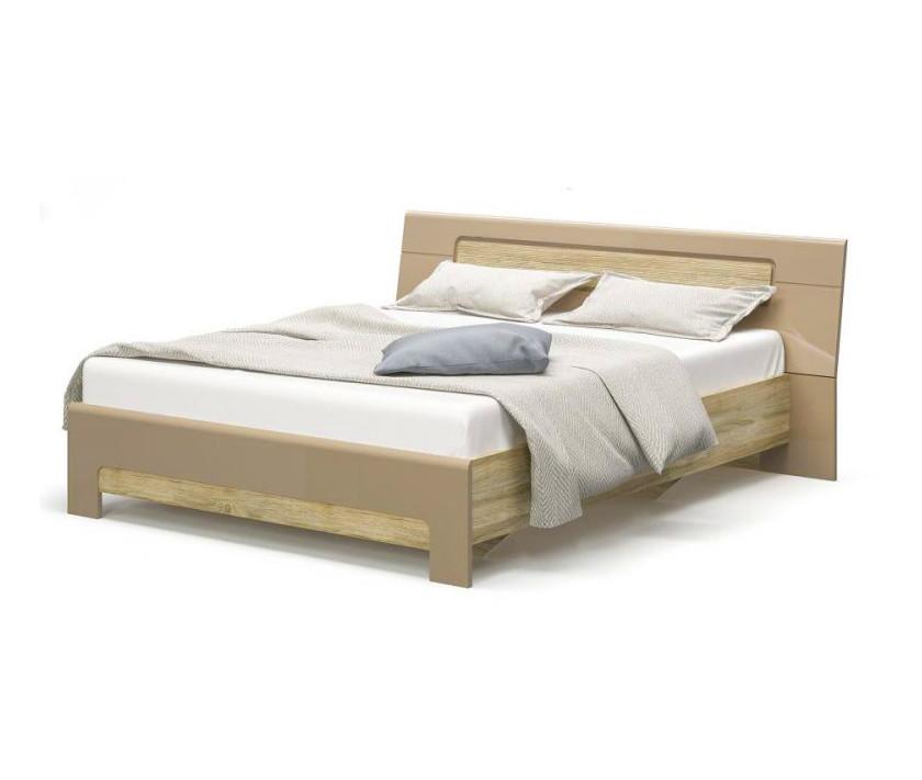 """Ліжко двоспальне """"Флоренс"""" від Меблі Сервіс (секвоя, капучіно)"""