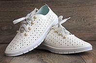 36р Жіночі мокасини - кросівки літні білого кольору  (Бж-6б)