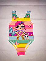 Детские купальники LOL для девочек оптом р.2-7 лет
