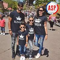 Футболки для всей семьи King Queen Princess Prince Family Look Фэмили лук футболки парные для подрос