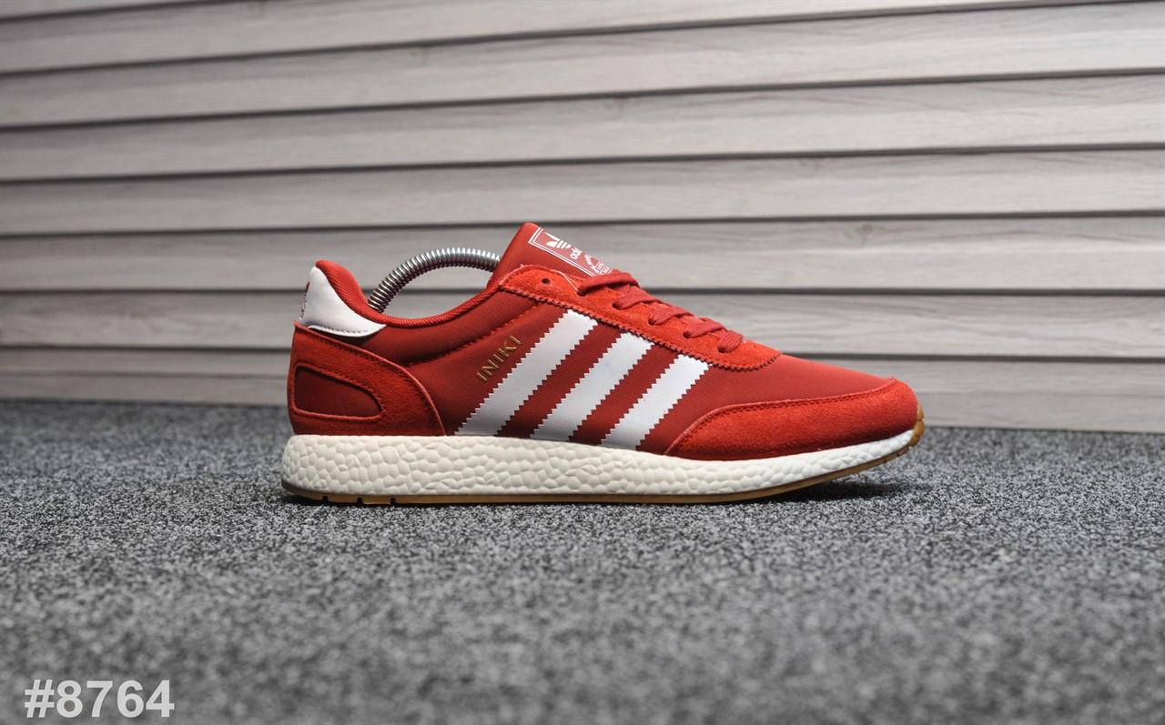 Мужские кроссовки Adidas Iniki Red White, Реплика