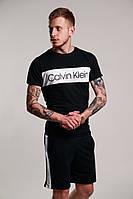 Летний спортивный комплект шорты футболка в стиле calvin klein