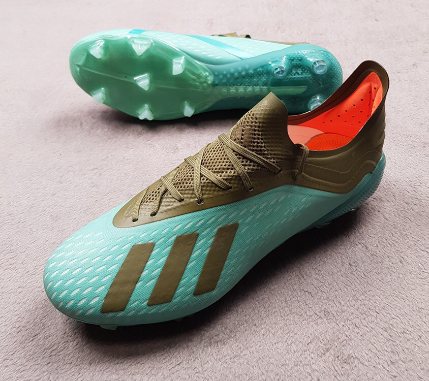 Футбольные бутсы Adidas X 18.1 Cold Mode темно-зеленые реплика