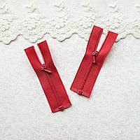Молния мини  РАЗЪЕМНАЯ для кукольной одежды, рюкзаков, сумок и обуви, 7.5 см - красная