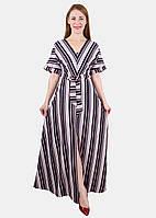 Летнее длинное платье с разрезом 44-50 р ( разные цвета )
