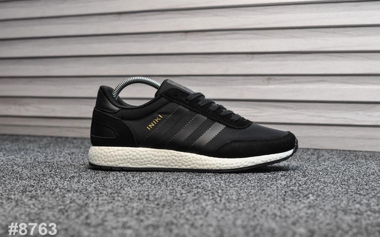 Мужские кроссовки Adidas Iniki Black , Реплика
