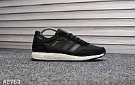 Мужские кроссовки Adidas Iniki Black , Реплика, фото 1