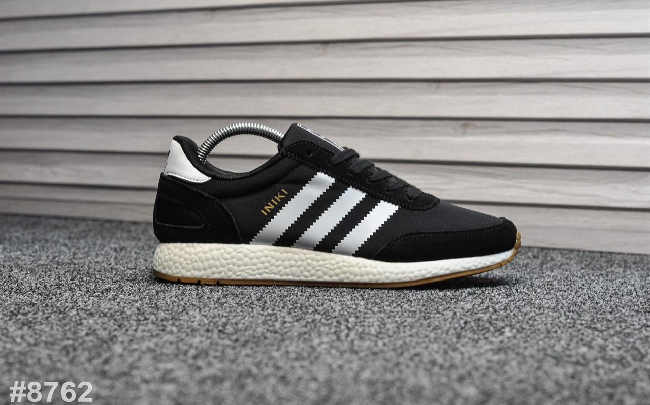 Чоловічі кросівки Adidas Iniki Black , Репліка