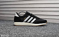 Чоловічі кросівки Adidas Iniki Black , Репліка, фото 1