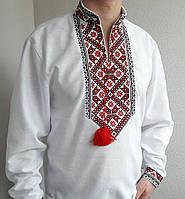 Чоловіча вишиванка на домотканому льон