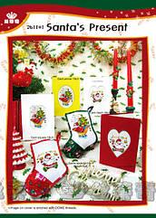Набор для вышивания крестом открытки «Подарки от Санты» DOME 261101