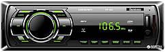 Автомагнітола FANTOM FP-302 Black/Green USB/SD ресивер