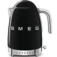 Чайник электрический с регулируемой температурой Smeg KLF04BLEU черный, фото 1