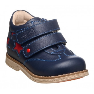 Ботинки ортопедические детские, малосложные с жестким задником (сине-красный) TWIKI TW-408