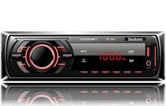 Магнитола FANTOM FP-303 Black/Red USB/SD ресивер