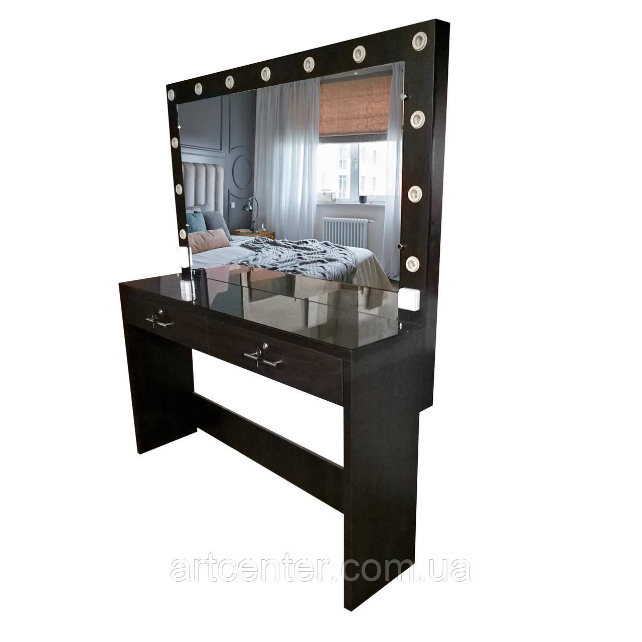 Туалетный столик, гримерный стол черный