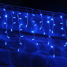 ГІРЛЯНДА БАХРОМА 3*0.5 м, каучук, колір синій