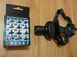 Фонарик налобный, светодиодный с фокусировкой луча (№6611), фото 3