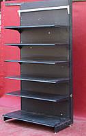 Торговый пристенный (односторонний) стеллаж «Колумб» 245х132 см., на 6 полок, Б/у, фото 1