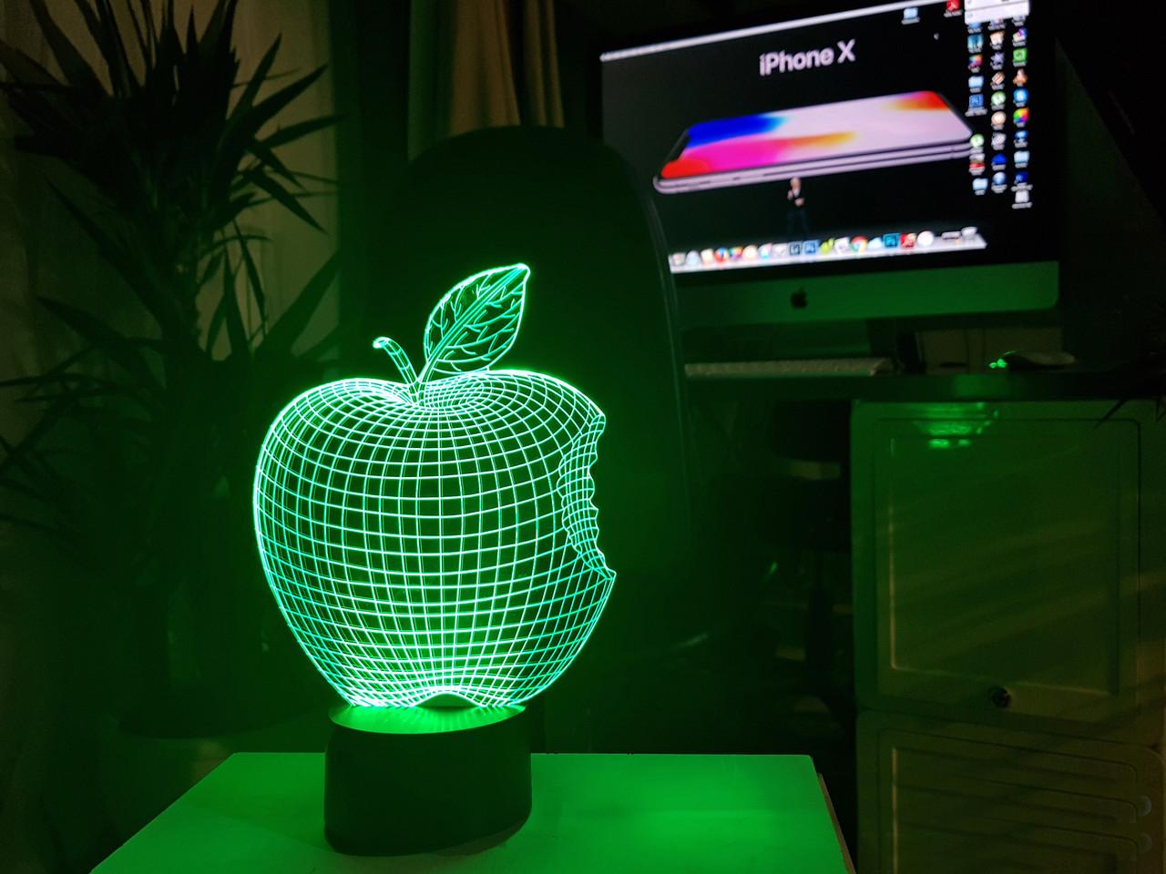 "3d светильник ""Apple"" 3DTOYSLAMP"