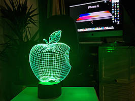 "3d светильник ""Apple"" 3DTOYSLAMP"