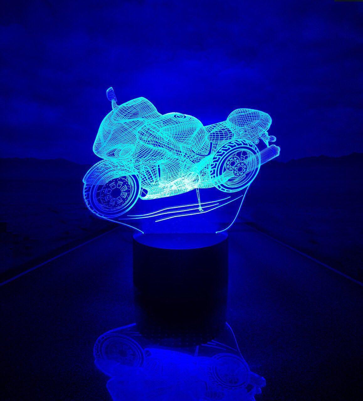 "3D светильник ""Мотоцикл"" 3DTOYSLAMP"