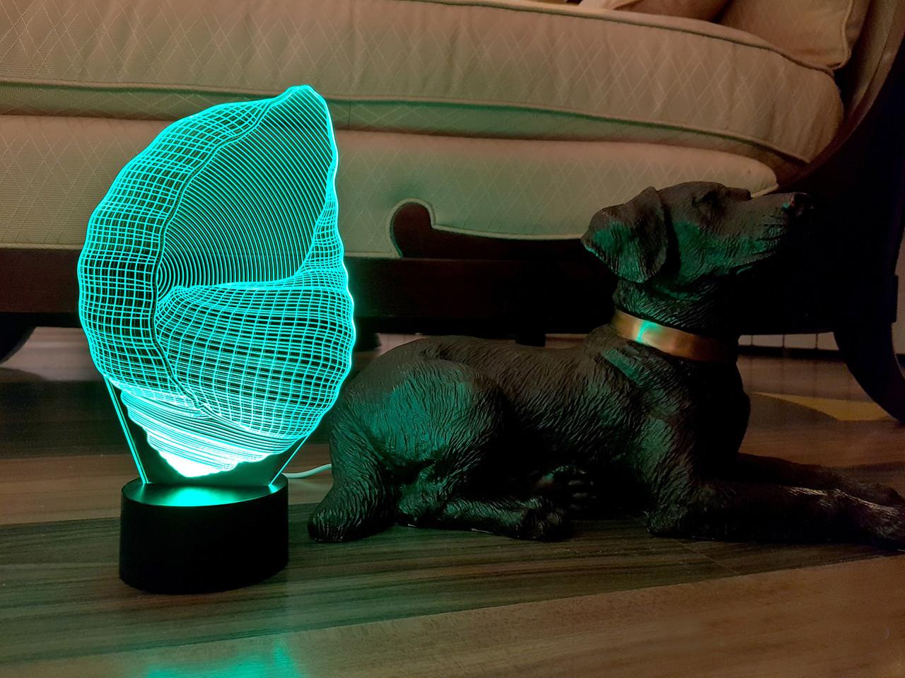 "3d светильник ""Ракушка"" 3DTOYSLAMP"