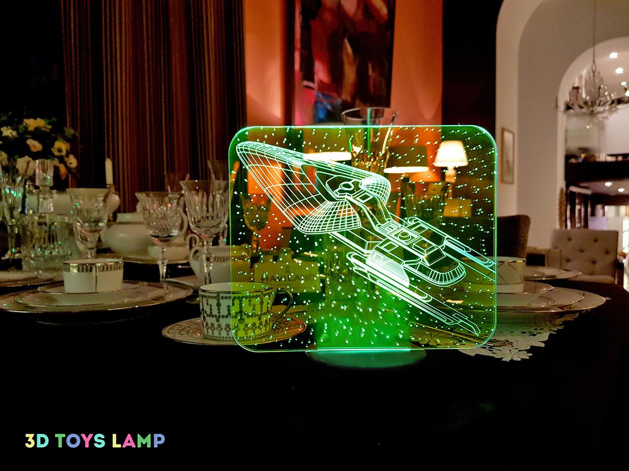 """3D светильник """"Космический корабль 4"""" 3DTOYSLAMP"""