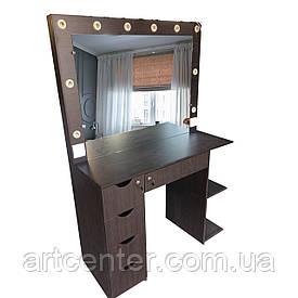 """Стол визажиста, гримерный столик цвет """"венге"""", туалетный столик, визажный стол"""