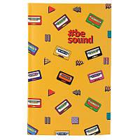 Книга записна Kite Be Sound K19-260-1 інтегральна обкладинка В6, 80 аркушів, клітинка, фото 1