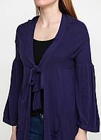 Кардиган на завязке с длинным рукавом фиолетовый L Jacqueline Riu