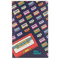 Книга записна Kite Be Sound K19-260-3 інтегральна обкладинка В6, 80 аркушів, клітинка, фото 1