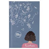 Книга записна Kite Be Sound K19-199-5 тверда обкладинка А6, 80 аркушів, клітинка