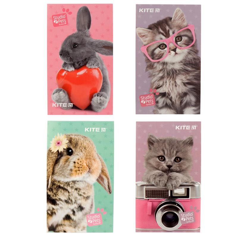 Блокнот-планшет KITE Studio Pets SP19-195-2, А6, 50 аркушів, нелінований (в ассортименте)