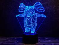 """Сменная пластина для 3D ламп """"Слоник"""" 3DTOYSLAMP, фото 1"""