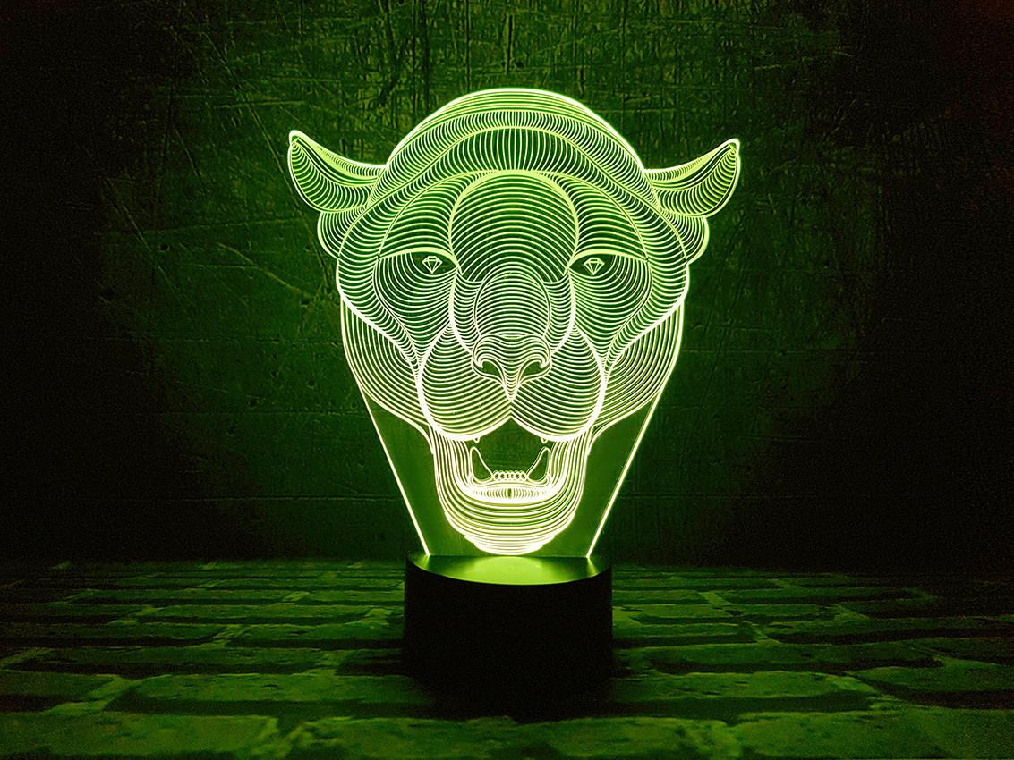 """Сменная пластина для 3D ламп """"Пума"""" 3DTOYSLAMP"""